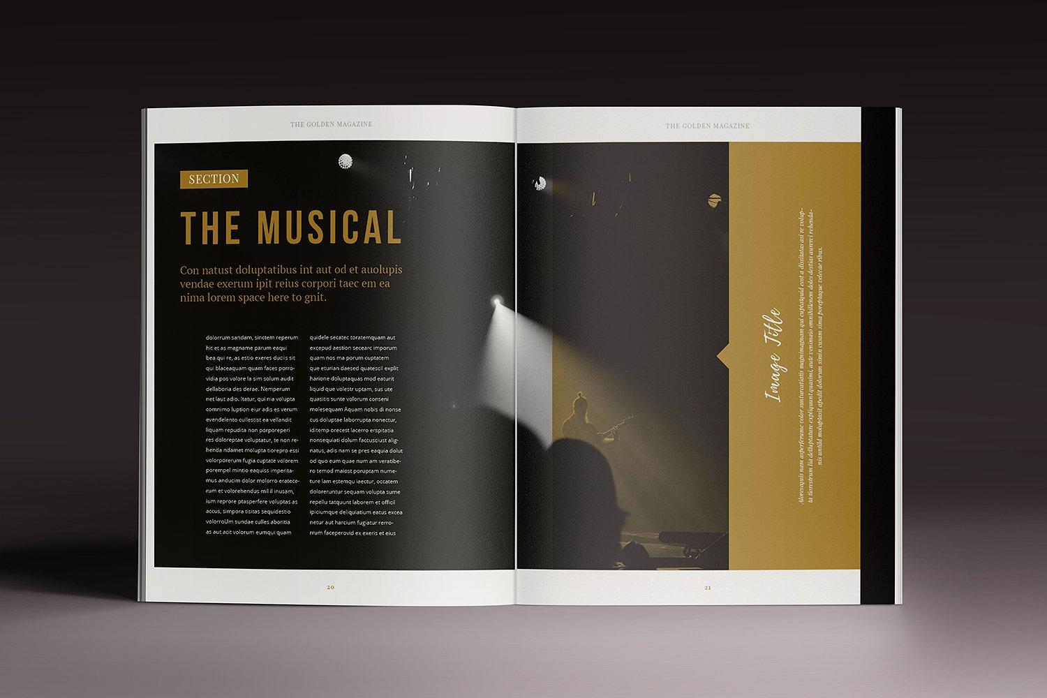 The Golden Magazine Template