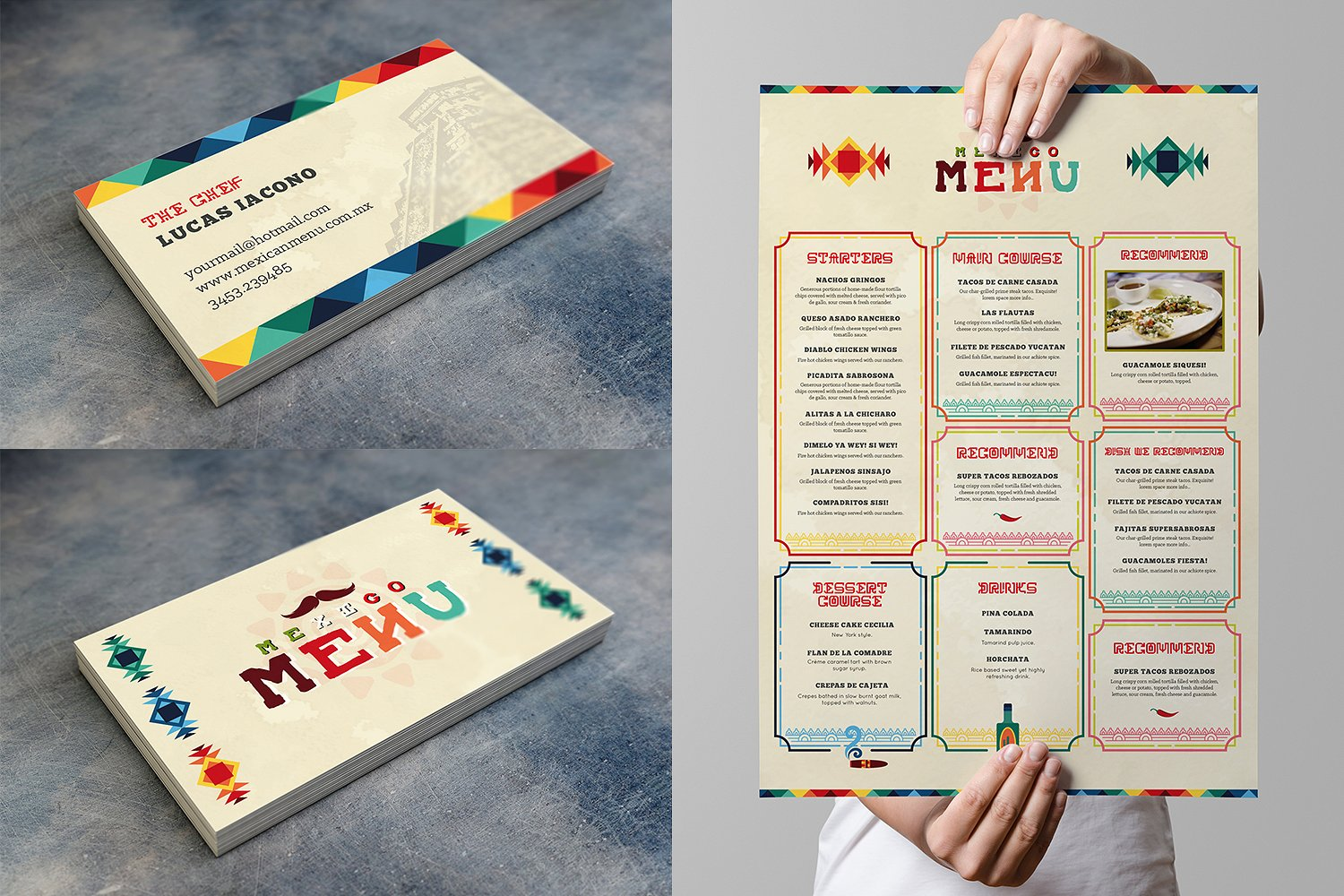 Mexican Food Menu Template