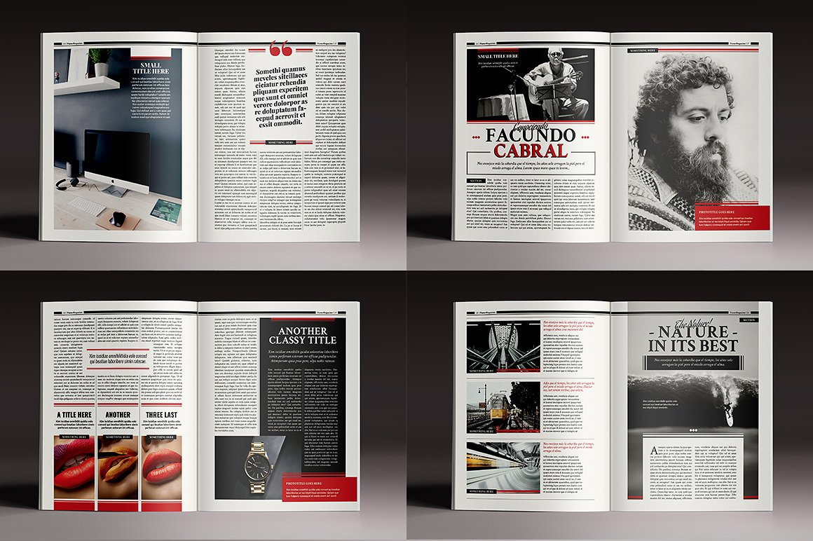 The Standign Magazine Indesign Template