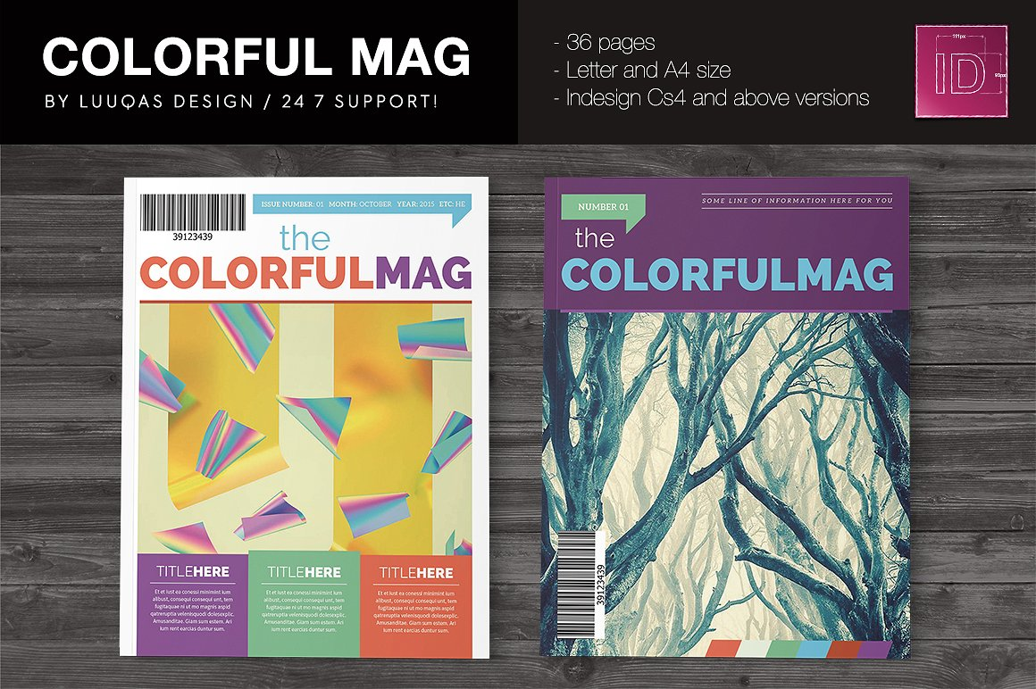 The Colorful Magazine Indesign Template