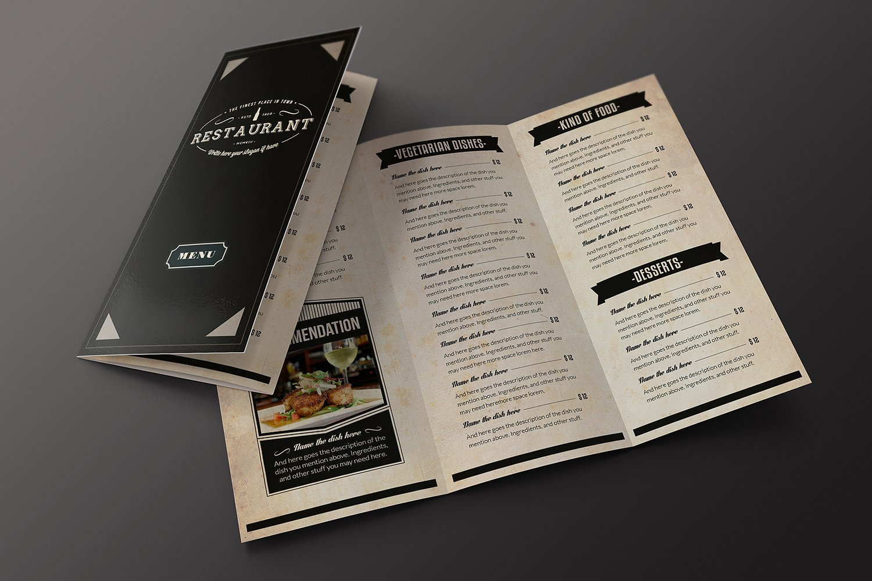 Elegant Food Menu 10 Illustrator Template