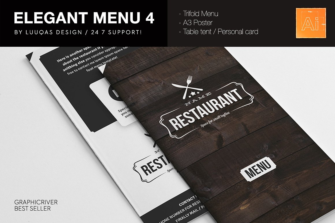Elegant Food Menu 4