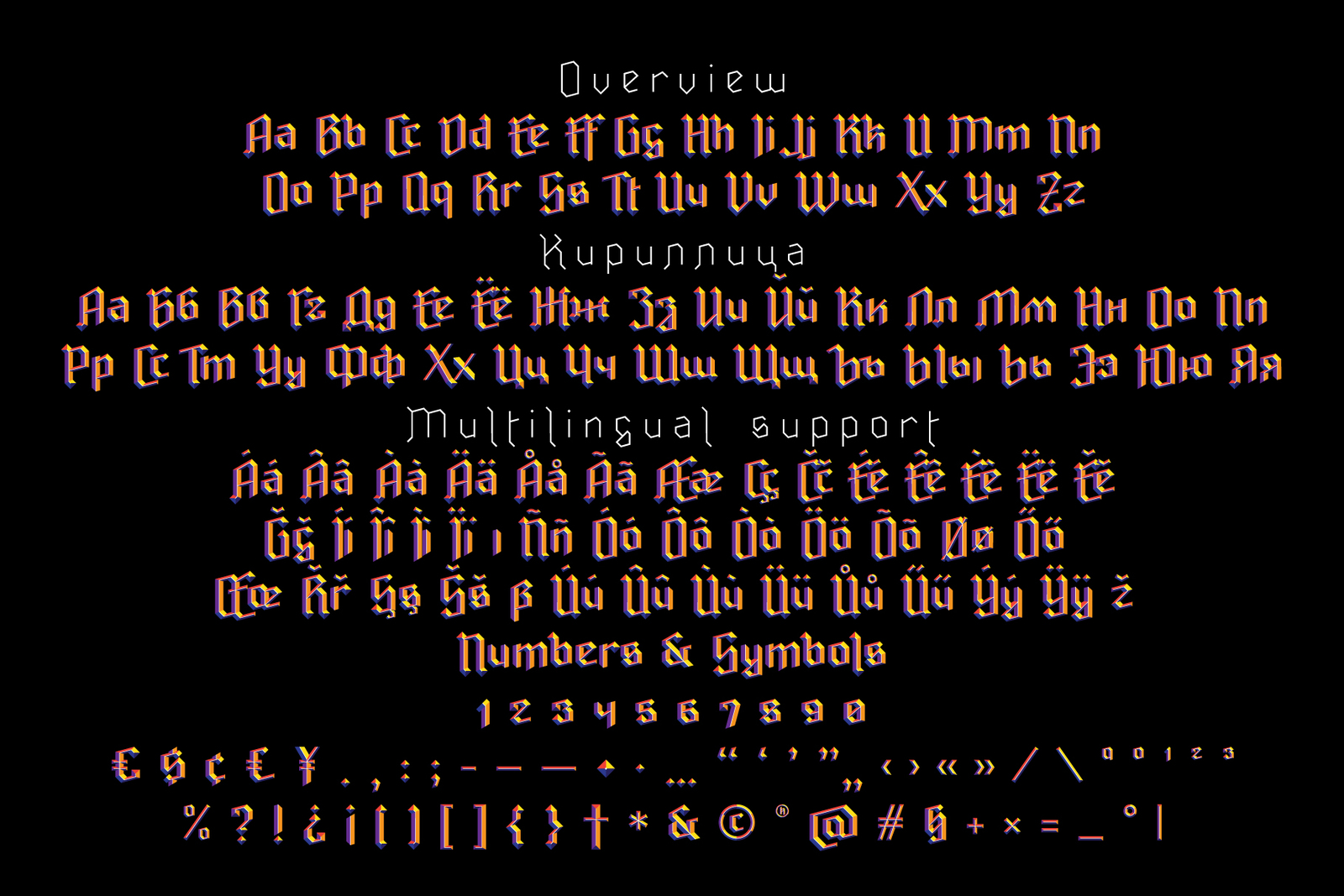 Ravenholm font family