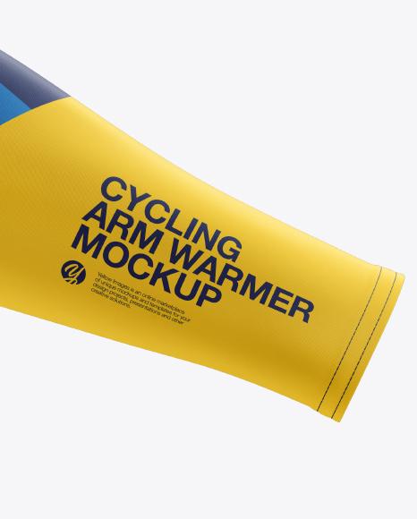 Cycling Arm Warmer mockup (Side View)