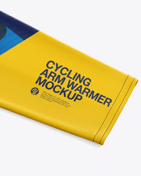 Flat Cycling Arm Warmer mockup (Half Side View)