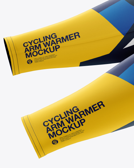 Cycling Arm Warmers mockup (Left Side View)