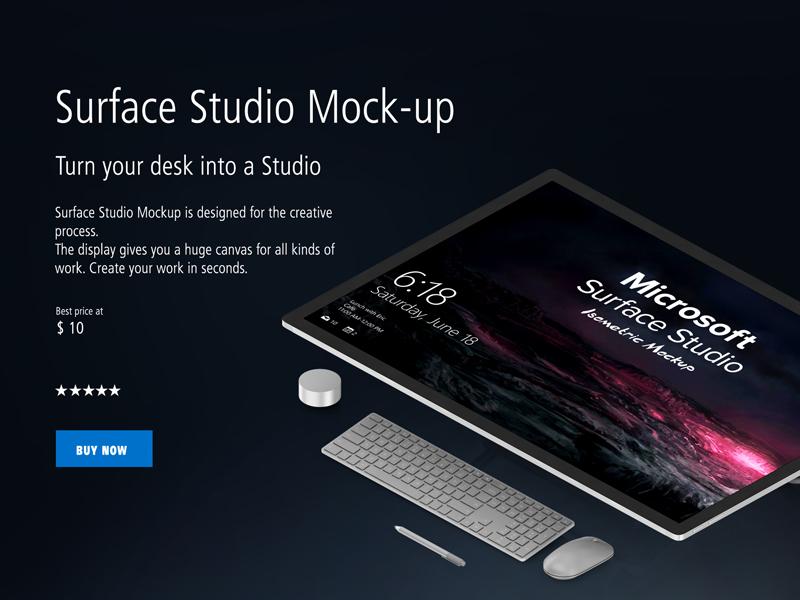 Isometric Microsoft Studio Mock-up