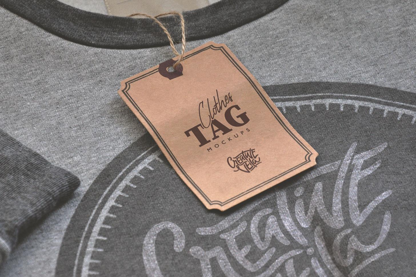 Clothes Tag PSD Mockups
