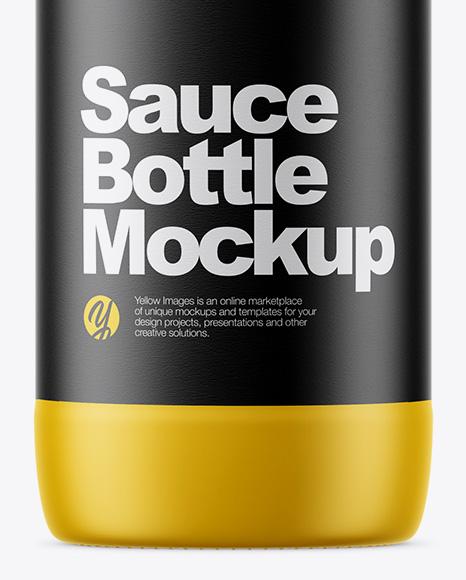 Matte Sauce Bottle Mockup