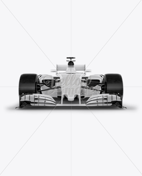 Download Formula One Car Mockup Front View In Vehicle Mockups On Yellow Images Object Mockups PSD Mockup Templates