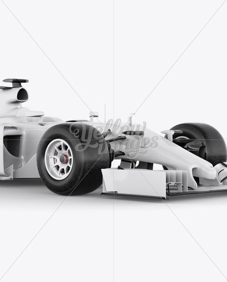 Download Formula One Car Mockup Front 3 4 View In Vehicle Mockups On Yellow Images Object Mockups PSD Mockup Templates