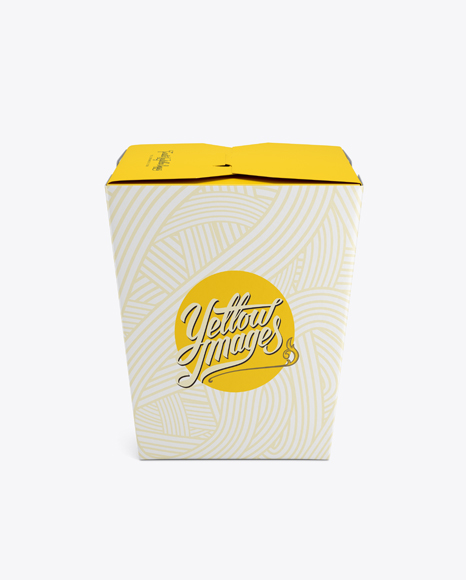 Download Noodles Box Mockup In Box Mockups On Yellow Images Object Mockups
