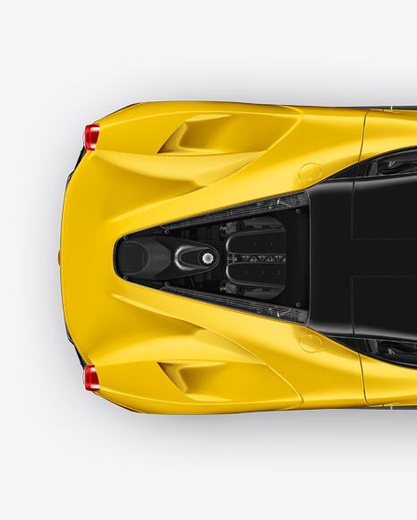 Super Car Mockup - Top View