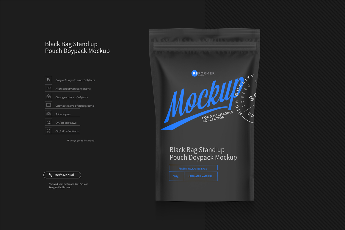 Stand Up Pouch with Zipper Mockup Set