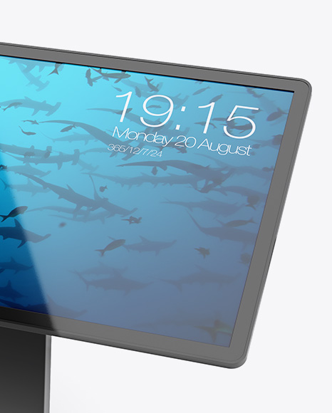 Glossy Touch Screen Display Table Mockup