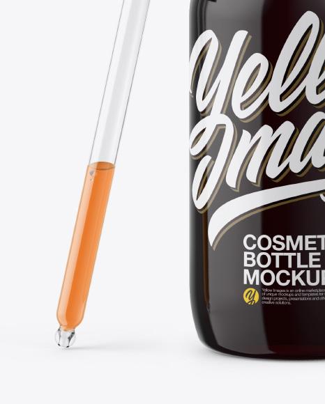 Opened Dropper Bottle Mockup