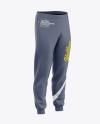 Men's Cuffed Sweatpants Mockup - Front Right Half-Side