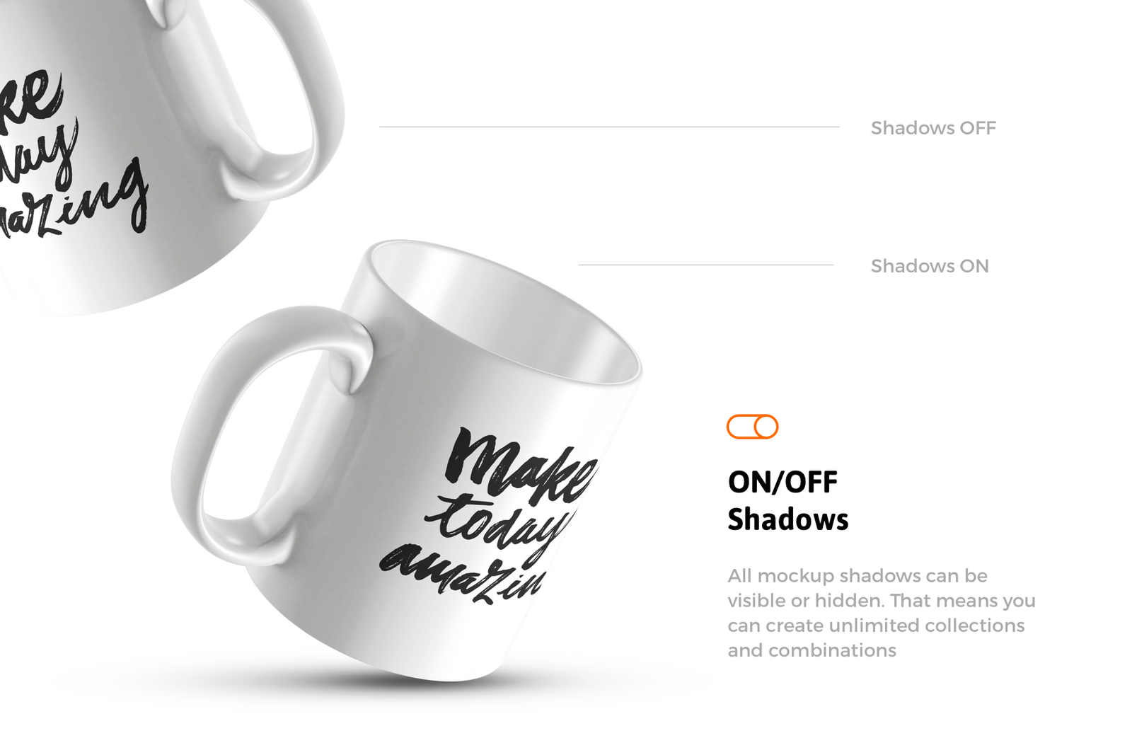 Download 12x Mug Mockups In Packaging Mockups On Yellow Images Creative Store PSD Mockup Templates