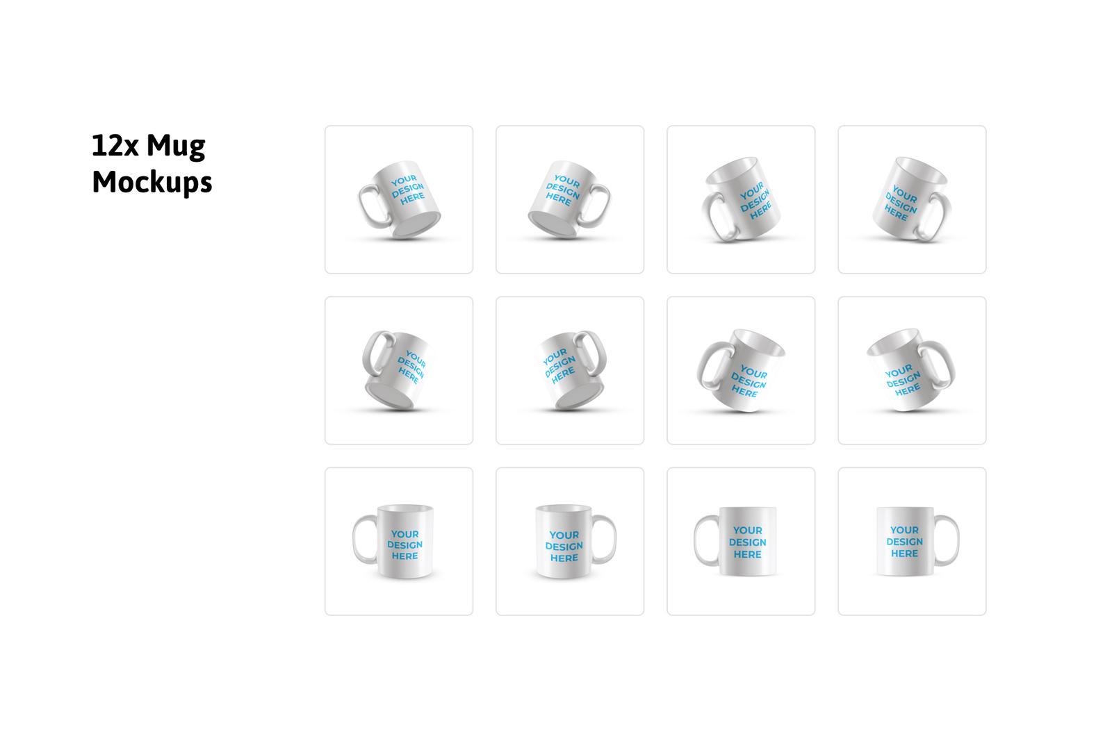 12x Mug Mockups