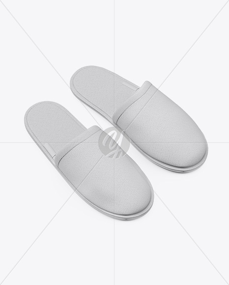 Download Home Slippers Front View High Angle Shot Yellow Images