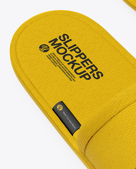 Download Home Slippers Top View Yellow Images