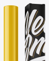 Glossy Cosmetic Bottle w/ Paper Box Mockup