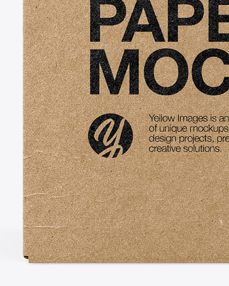 Four Kraft Boxes Mockup - Side View