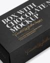 Box w/ Chocolate Nuts Mockup