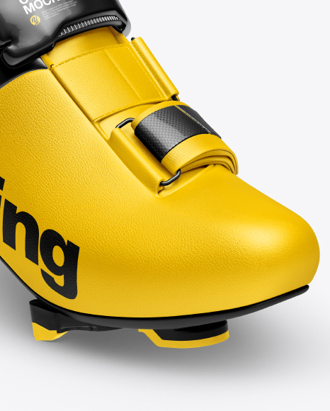 Download Cycling Shoe Covers Mockup Half Side View Yellowimages