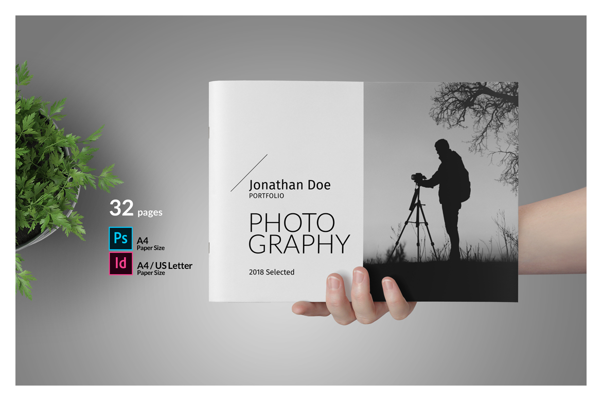 Photo Album Template in Brochure Templates on Yellow