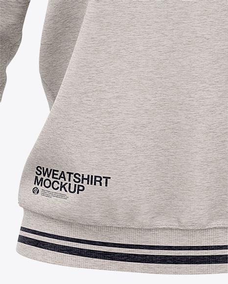 Women's Heather Crew Neck Sweatshirt - Front View Of Sweater