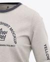 Women's Heather Crew Neck Sweatshirt - Front Half Side View