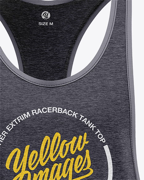 Men's Heather Racer-Back Tank Top Mockup - Front View
