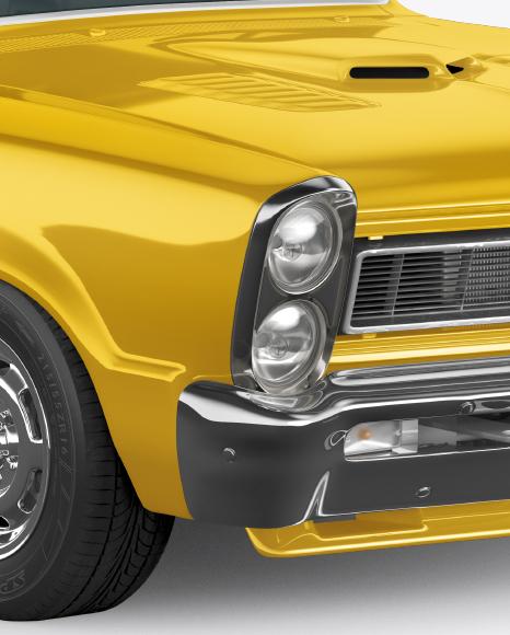 Muscle Car Mockup - Half Side View