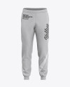 Men's Heather Cuffed Sweatpants - Front View