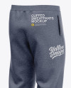 Men's Heather Cuffed Sweatpants - Back Left Half-Side View