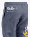 Men's Heather Cuffed Sweatpants - Back Right Half-Side View