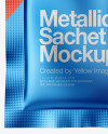 Matte Metallic Sachet Mockup