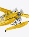 Flying Seaplane Mockup - Half Side View