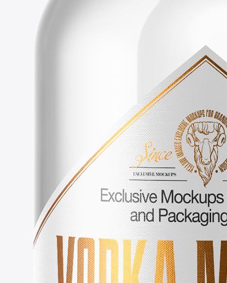 750ml Vodka Bottle with Wooden Cap Mockup
