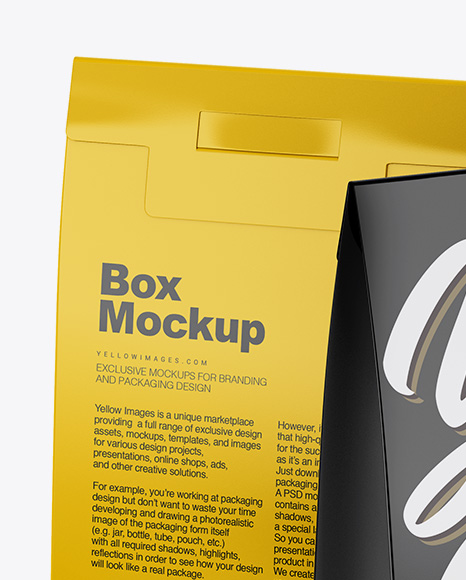 Two Glossy Boxes Mockup