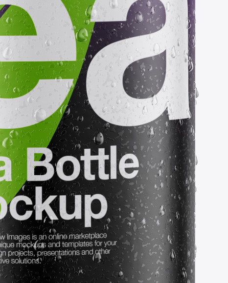 Bottle with Condensation in Shrink Sleeve