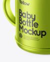 Metallic Baby Bottle Mockup