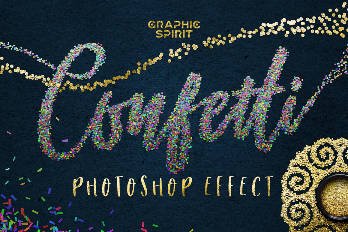✨ CONFETTI Effect For Adobe Photoshop