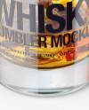 Whisky Tumbler Glass with Smoldering Cigar Mockup