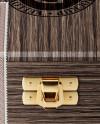Wooden Cigar Box Mockup - Front View (High Angle Shot)