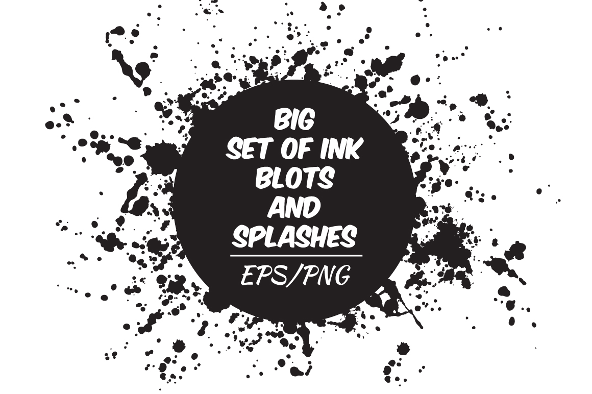 Ink blots and splachers set