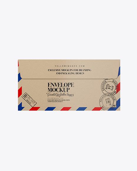 Download Kraft Paper Envelope Mockup In Stationery Mockups On Yellow Images Object Mockups PSD Mockup Templates