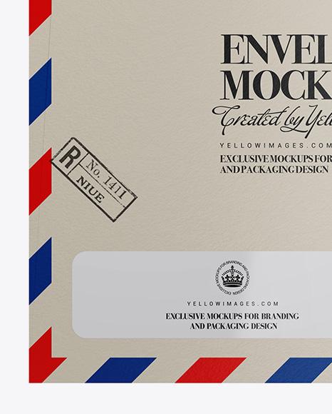 Textured Paper Envelope Mockup