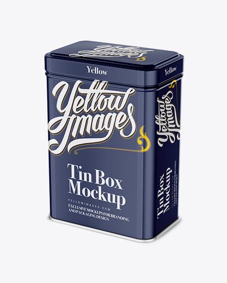 Download Metallic Tin Box Mockup In Box Mockups On Yellow Images Object Mockups PSD Mockup Templates